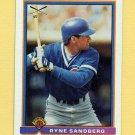 1991 Bowman Baseball #377 Ryne Sandberg SLUG - Chicago Cubs