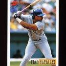 1993 Bowman Baseball #305 Juan Gonzalez - Texas Rangers
