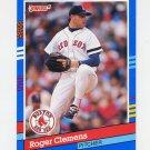 1991 Donruss Baseball #081 Roger Clemens - Boston Red Sox Ex