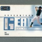 2002 Upper Deck 40-Man Baseball Gargantuan Gear #GBG Ben Grieve - Devil Rays Game Used Jersey