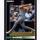 1992 Pinnacle Baseball #217 Mark McGwire - Oakland A's