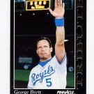 1993 Pinnacle Baseball Tribute #5 George Brett - Kansas City Royals