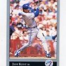 1992 Leaf Baseball #445 Jeff Kent RC - Toronto Blue Jays