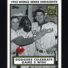 2002 Topps Baseball 1952 World Series Highlights #52WS3 Dodgers Celebrate 1