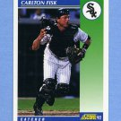1992 Score Baseball #072 Carlton Fisk - Chicago White Sox