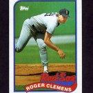 1989 Topps Baseball #450 Roger Clemens - Boston Red Sox Ex