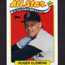 1989 Topps Baseball #405 Roger Clemens AS - Boston Red Sox ExMt