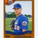 2002 Topps Baseball #691 Leonard Dinardo RC - New York Mets