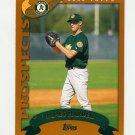 2002 Topps Baseball #687 Rich Harden RC - Oakland A's