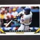 1993 Topps Baseball #002 Barry Bonds - Pittsburgh Pirates