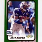 2001 Score Football #184 Shaun Alexander - Seattle Seahawks