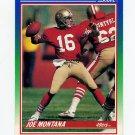 1990 Score Football #001 Joe Montana - San Francisco 49ers Ex