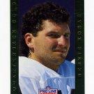1992 Pro Line Portraits QB Gold Football #11 Bernie Kosar - Cleveland Browns