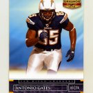 2007 Donruss Gridiron Gear Football #100 Antonio Gates - San Diego Chargers