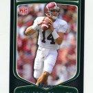 2009 Bowman Draft Football #136 John Parker Wilson RC - Alabama