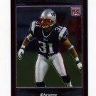 2007 Bowman Chrome Football #BC014 Brandon Meriweather RC - New England Patriots