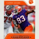 2007 Press Pass Football #82 Gaines Adams AA - Clemson