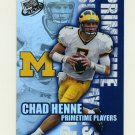 2008 Press Pass Primetime Players Football #PP13 Chad Henne - Michigan Wolverines