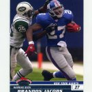 2008 Stadium Club Football #047 Brandon Jacobs - New York Giants Ex