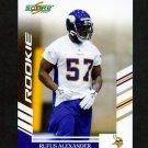 2007 Score Football #328 Rufus Alexander RC - Minnesota Vikings