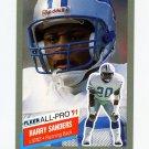1991 Fleer All-Pros Football #09 Barry Sanders - Detroit Lions