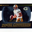 1999 Donruss Zoning Commission Football #06 Brett Favre - Green Bay Packers 0210/1000.