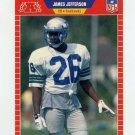1989 Pro Set Football #539A James Jefferson ERR RC - Seattle Seahawks