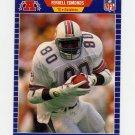 1989 Pro Set Football #214A Ferrell Edmunds RC ERR - Miami Dolphins ExMt