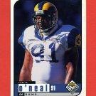1998 UD Choice Football #153 Leslie O'Neal - St. Louis Rams
