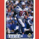 1998 UD Choice Football #111 Ben Coates - New England Patriots