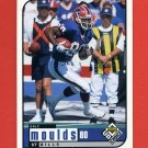 1998 UD Choice Football #020 Eric Moulds - Buffalo Bills