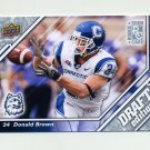 2009 Upper Deck Draft Edition Football #140 Donald Brown RC - Connecticut