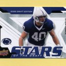 2008 Upper Deck Draft Edition Stars of the Draft #SOD10 Dan Connor - Penn State Nittany Lions