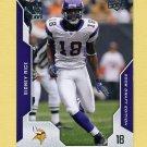 2008 Upper Deck Draft Edition Football #159 Sidney Rice - Minnesota Vikings