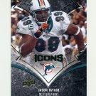2008 Upper Deck Icons Football #054 Jason Taylor - Miami Dolphins