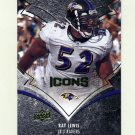 2008 Upper Deck Icons Football #007 Ray Lewis - Baltimore Ravens