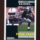 1991 Pinnacle Football #025 Roger Craig - Los Angeles Raiders