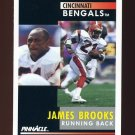 1991 Pinnacle Football #021 James Brooks - Cincinnati Bengals