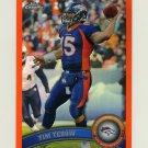 2011 Topps Chrome Orange Refractors Football #148 Tim Tebow - Denver Broncos