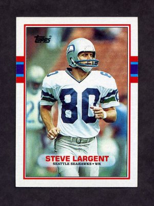 1989 Topps Football #183 Steve Largent - Seattle Seahawks