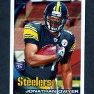 2010 Topps Football #364A Jonathan Dwyer RC - Pittsburgh Steelers