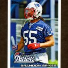 2010 Topps Football #069 Brandon Spikes RC - New England Patriots