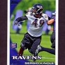 2010 Topps Football #028 Sergio Kindle RC - Baltimore Ravens