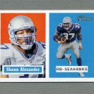 2002 Topps Heritage Football #070 Shaun Alexander - Seattle Seahawks