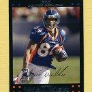 2007 Topps Football #139 Javon Walker - Denver Broncos