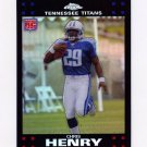 2007 Topps Chrome Refractors Football #TC192 Chris Henry RC - Tennessee Titans