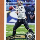 2011 Topps Football #100A Drew Brees - New Orleans Saints