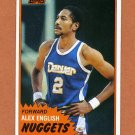 1981-82 Topps Basketball #W68 Alex English - Denver Nuggets ExMt