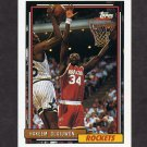 1992-93 Topps Basketball #337 Hakeem Olajuwon - Houston Rockets
