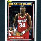 1992-93 Topps Basketball #214 Hakeem Olajuwon 50P - Houston Rockets